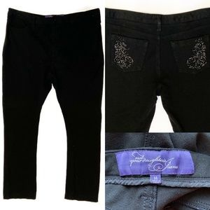 NYDJ Not Your Daughter's Pone Knit Black Pants